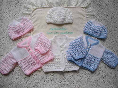 (DollieBabies Knitting Pattern 44 - Unisex Lacy Baby Cardigan)