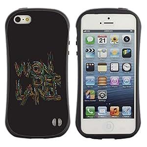 Suave TPU GEL Carcasa Funda Silicona Blando Estuche Caso de protección (para) Apple Iphone 5 / 5S / CECELL Phone case / / Quote Text Art Quote Brown /