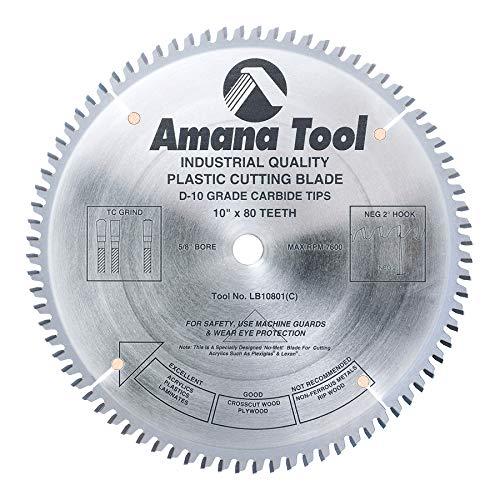 (Amana Tool - LB10801 Carbide Tipped Non-Melt Plastic 10