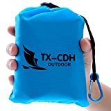 TX-CDH Outdoor Beach Blanket/Compact Multi-Functional Pocket Blanket 55'' x70'' - Anti-sand Camping, Waterproof Ground Cover, Sand Proof Picnic Mat, Suitable For Travel, Hiking, Parks, Camping, Festival
