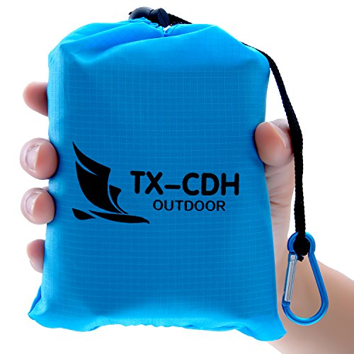 TX-CDH Outdoor Beach Blanket/Compact Multi-Functional Pocket Blanket 55'' x70'' - Anti-sand Camping, Waterproof Ground Cover, Sand Proof Picnic Mat, Suitable For Travel, Hiking, Parks, Camping, Festival by TX-CDH