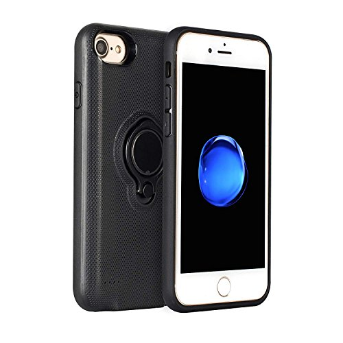 Liphier iPhone 6/6s/7 Battery Charger Case, 2500mAh Ultra Slim Protective Rechargeable External Charger Case, Portable Charging Case with Kickstand For iPhone 6/6s/7/8 (4.7 Inch) (Black) by Liphier