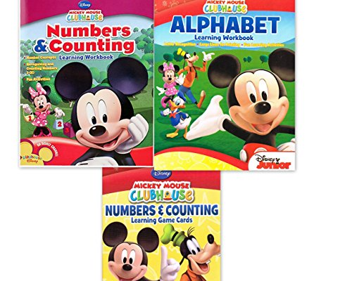 Mickey Mouse Clubhouse Workbook and Flashcard Learning Bundl