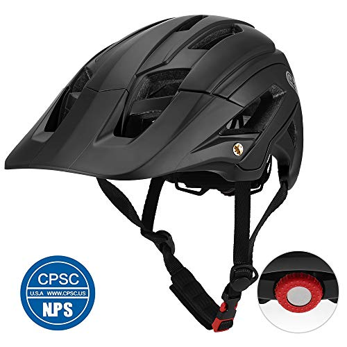 Lixada Adult Bike Helmet 16 Vents Lightweight Mountain Bike Helmet with Detachable Visor Sports Bicycle Bicycle Safety Protective Helmet