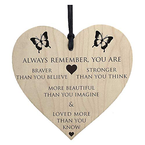 XQXCL Fashion Home Decor Wooden Hanging Heart Courtyard Decoration Letter Printed Wall Sticker Room Décor