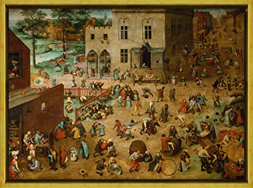 - Berkin Arts Framed Pieter Bruegel The Elder Giclee Canvas Print Paintings Poster Reproduction(Children Games)