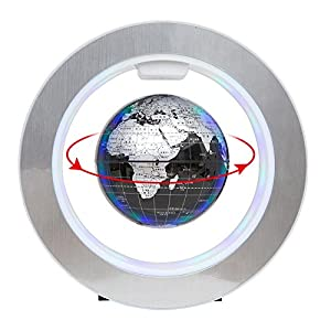 YANGHX Floating Globe World Map 4inch Rotating Magnetic Mysteriously Suspended In Air World Map Home Decoration Crafts…