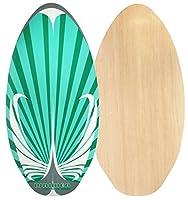 Waimea Skimboard Flatland Holz 41 inch/104 cm, smaragd/anthrazit/weiß, 52WD