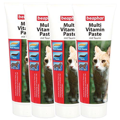 4 x 250 g Beaphar 12965 Multi Vitamin Paste für Katzen mit Taurin