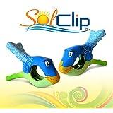 Beach Towel Clips, pegs, clothespins, clamps, épingles, pinces à serviette de plage, SolClip Canada, Fish Bubbles