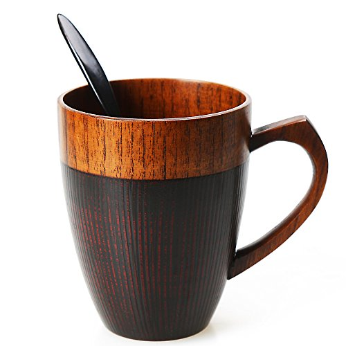 Cool Coffee Mug, Handmade Wood Coffee/Tea Cup 11 OZ with Spo