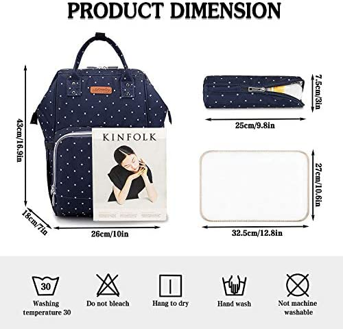 51UJfmYw66L. AC - EssFeeni Diaper Bag Backpack For Women Large Maternity Mommy Bag Waterproof Baby Nappy Bags For Travel