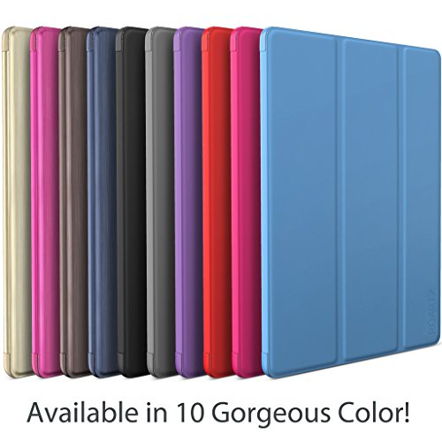 iPad Air Case, ROARTZ Metallic Navy Blue Slim Fit Smart Rubber Coated Folio Case Hard Shell Cover Light-Weight Auto Wake/Sleep For Apple iPad Air 1st generation Model A1474/A1475/A1476 Retina Display by ROARTZ (Image #7)