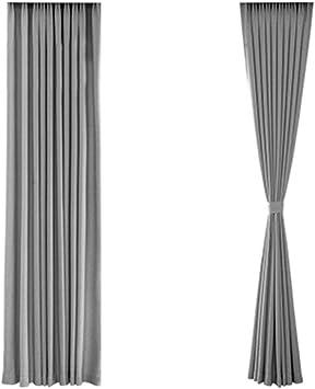 DENGSH Cortinas,Cortinas Aislantes de Tela,Sencillas. Poliéster Algodón Espesar Habitación Ventana de Bahia Cortina Sencillo/gris / 4×2.6m: Amazon.es: Bricolaje y herramientas