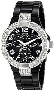 Guess Ladies Sport W13564L2 - Reloj analógico de cuarzo para mujer, correa de resina color negro (agujas luminiscentes)