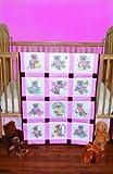 quilt cross stitch - Fairway 92320 Baby Quilt Block, Cross Stitch Girl Bear Design, Twelve Blocks, White