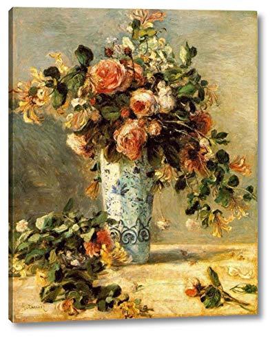 Pierre Auguste Renoir Roses - Roses and Jasmine in a Delft Vase by Pierre Auguste Renoir - 18