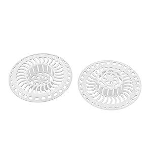 uxcell Kitchen Bathroom Plastic Mesh Hole Design Sink Strainer Stopper Basket Drain Bathtub Net Prevent Clogs 2pcs