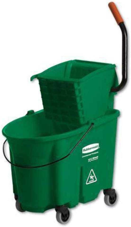 Rubbermaid 758888GRE WaveBrake Side-Press Wringer//Bucket Combo 8.75 gal Green