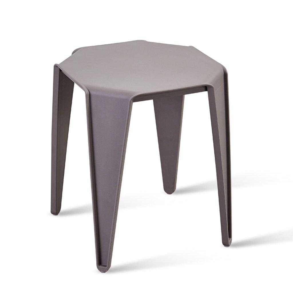 グレーのスタッキング可能な屋外シート防水プラスチック製の椅子現代風の屋内レストランカフェホームスツール、2のセット (色 : グレー, サイズ さいず : Set of 1) B07DWZQNLD Set of 1|グレー グレー Set of 1
