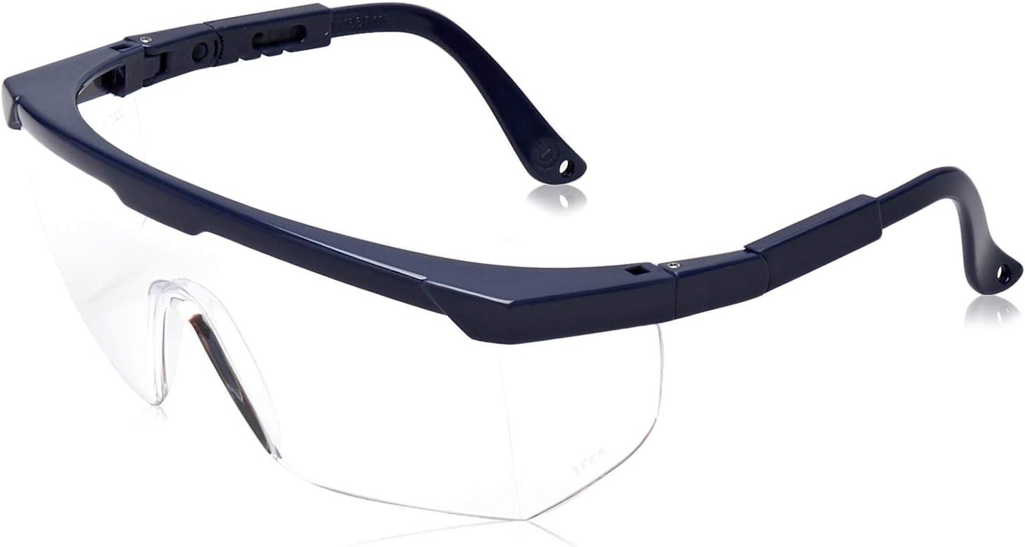 Gafas de protección subidas de Basic transparente clásica–Gafas protectoras con protección integrada lateral