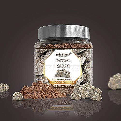 Vedic Vaani Natural Herbal Loban Dhoop Sambrani Powder (Resin Gum Benzoin  Powder) for Home, Office, Religious Ceremonies, Meditation and Pooja
