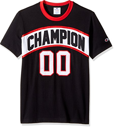 Champion LIFE Men's Crew Neck Basketball Tee (Limited Edition), Black, Large (Vintage Champion Jersey)