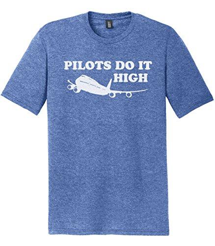 Pilots Do It High T-Shirt, Heather Royal (Tapered Pilot Shirts)