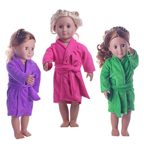 Sunward 1 Set Sleepwear Pajamas Fits 18 inches American Girl Dolls or American Girl Dolls (Pink)