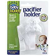 Baby Buddy Pacifier Holder, Clip Cute Bear to Baby's Shirt, Snap Other End to Pacifier/Rattle/Toy—Pacifier Clip For Boys/Girls/Babies