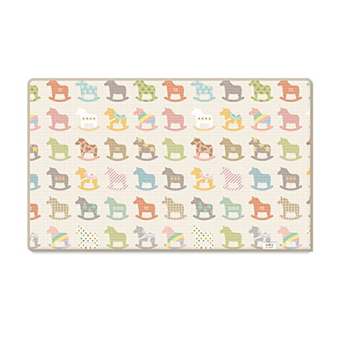 Parklon Wooden Pony Sillky Baby Playmat 90.55'' 55.11'' by Parklon