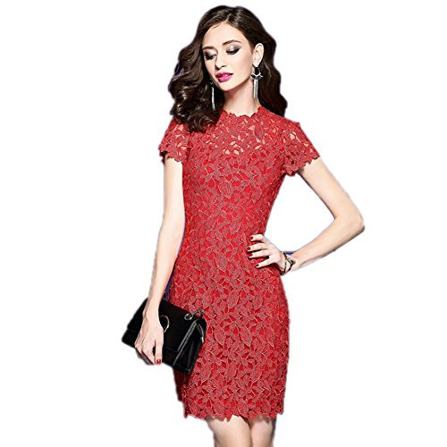 Gown Turtleneck cotyledon Women Short Bodycon Sleeve Prom Dresses For Red rxI68tIq