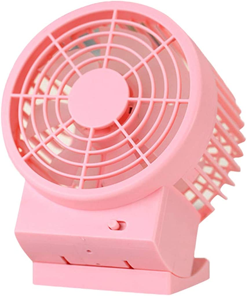 JiaMeng Mini Ventilador Clip Ventilador Batería Ventilador Mini ...