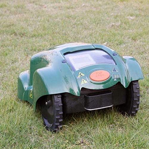 SHPEHP Cortacésped robótico con Sensor de Lluvia y Dispositivo de Corte de Seguridad, Control Remoto WiFi cortacésped antirrobo para Jardines de hasta 3000 Metros Cuadrados-Armygreen