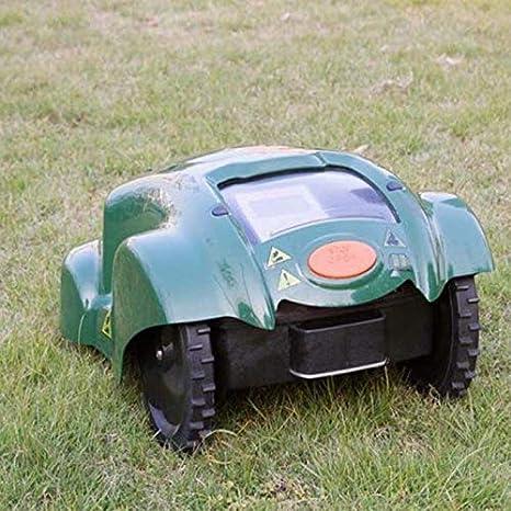 SHPEHP Cortacésped Robot Sensor de Lluvia y Apagado de Seguridad, Mando a Distancia WiFi para segadora de contraseñas antirrobo para Jardines, hasta 3000 Metros Cuadrados