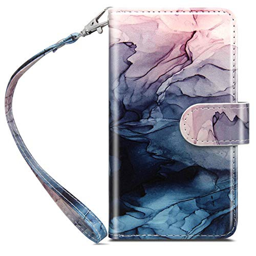 Dailylux iPhone 6S Case,iPhone 6 Case,iPhone 6S Wallet Case Flower Premium Soft PU Leather Closure Flip Cover with 9 Card Slot Luxury Bling Case for Apple iPhone 6/6s 4.7