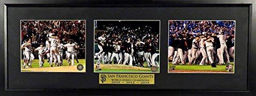 San Francisco Giants 2010-2012-2014 World Series Champions Triple Display Framed