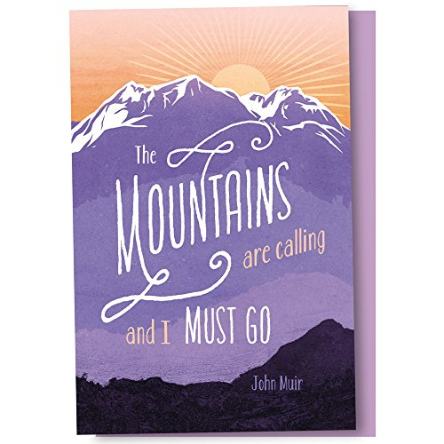 Card Calling Set (Tree-Free Greetings EcoNotes 12 Count Mountains are Calling All Occasion Notecard Set with Envelopes, 4 x 6 Inches (FS56692))