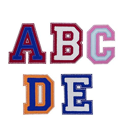 Sweet Varsity Letters Applique Patch - Iron on (Varsity Applique)
