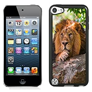 NEW Unique Custom Designed iPod Touch 5 Phone Case With Preying Lion_Black Phone Case