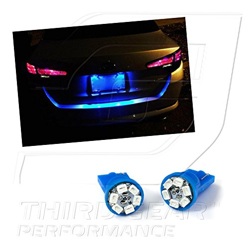 TGP T10 Blue 6 LED SMD License Plate Wedge Light Bulbs Pair 2003 2013 Nissan  350Z 370Z