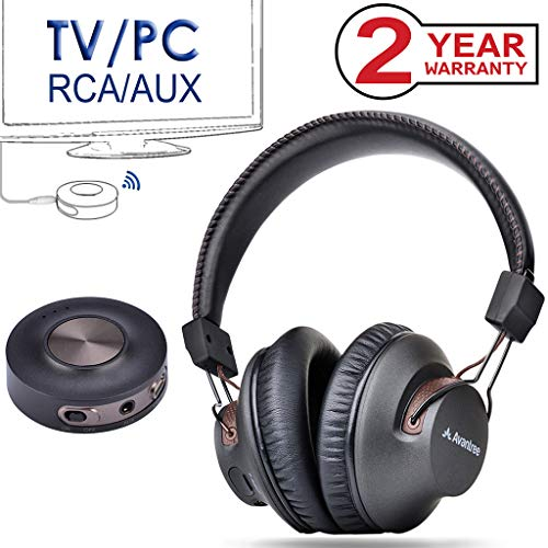 - Avantree HT3189 Wireless Headphones TV Watching & PC Gaming Bluetooth Transmitter (3.5mm AUX, RCA, Computer USB Audio), Plug & Play, No Delay, 100ft Long Range, 40hrs Battery