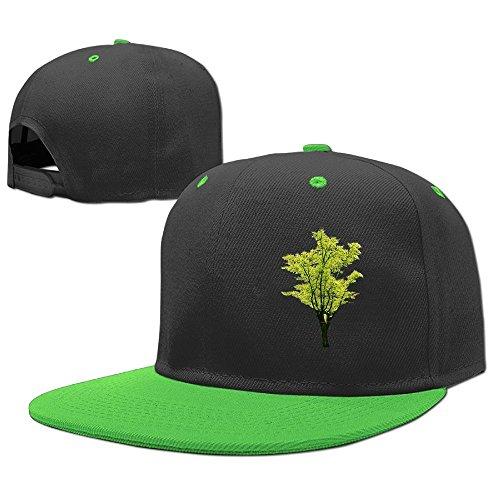 Siwnqk Kids Hip Hop Hats Caps Light Green Tree by My Side (Maple Personal Locker)