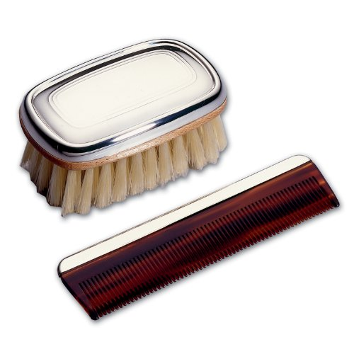 Lunt Silver Lunt Sterling Boy's Comb and Brush Set