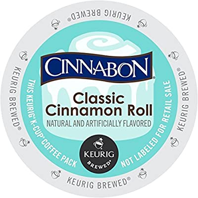 Cinnabon Classic Cinnamon Roll K-Cup Coffee (96 count) by Green Mountain Coffee