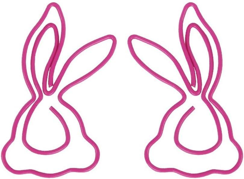 5er set Kaninchen Form Papierclips Hefterclips Büroklammern Metall Lesezeichen