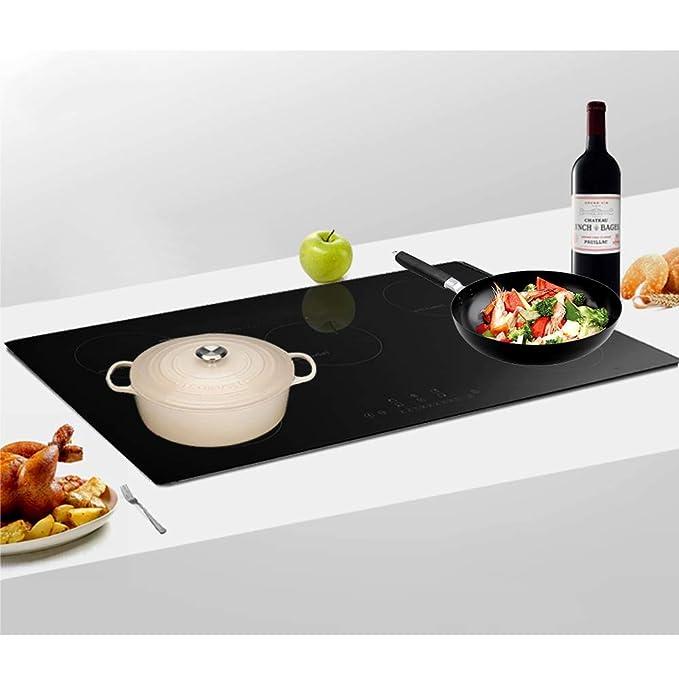 Placa de cocción de vitrocerámica de 9300 W, placa de ...