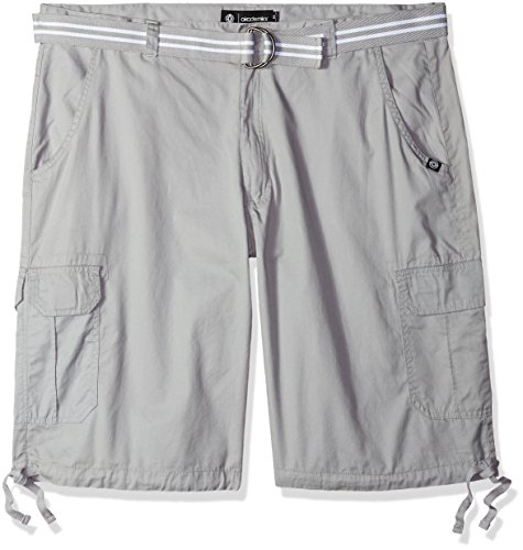 Akademiks Mens Big and Tall Belted Cameron Twill Cargo Short