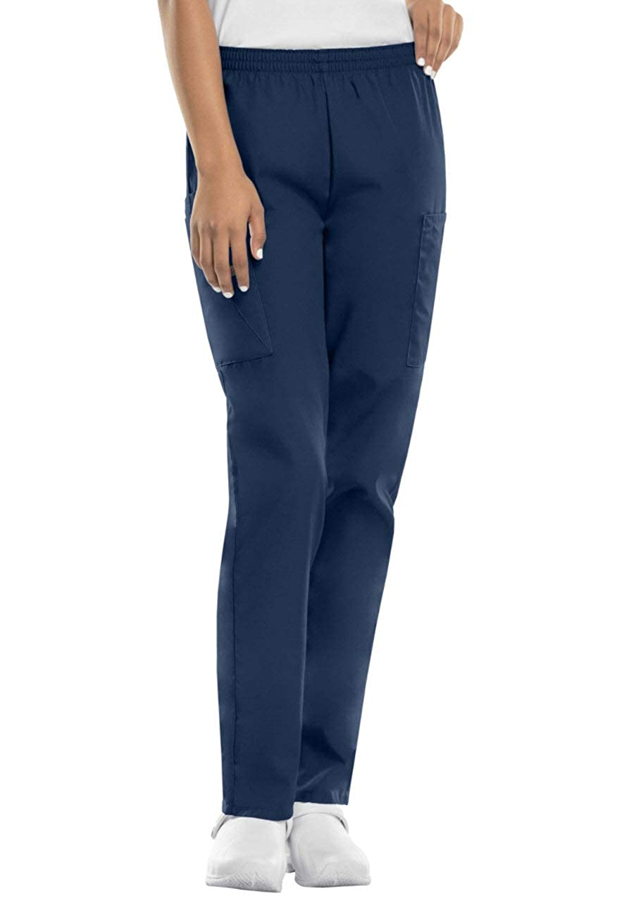 Smart Uniform Schwesternhose Schlupfhose mit Gummibund aus Reiner Baumwolle rein Weisse oder Blaue Pflegerhose I Bequeme Medi Hose