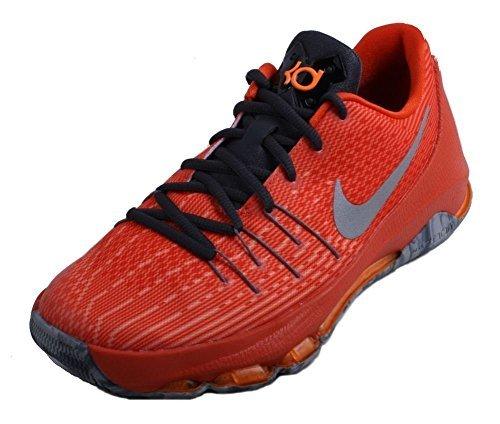 Nike Kids KD 8 Basketball Shoes-Total Orange/Reflective Silver-5.5